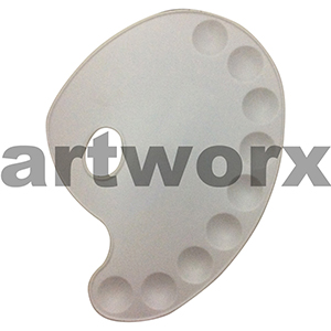 28 x 21cm Kidney Shaped Plastic Palette