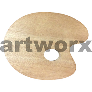30x40cm Kidney Shaped Wooden Palette