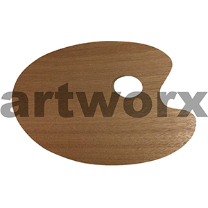 20x30cm Kidney Shaped Wooden Palette
