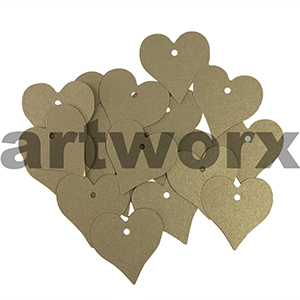 Gold Metallic Large 50pcs Hearts Tags