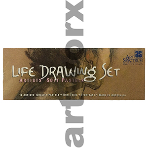 12pc Life Drawing Artists' Soft Pastels in Cardboard Box