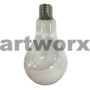 Light Bulb Hanging Glass Light Globe 22cm