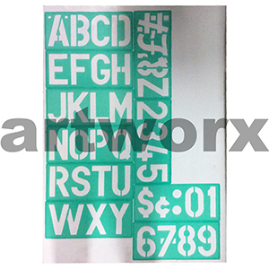 100mm Linex 85100 Lettering Stencil