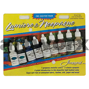Lumiere and Neopaque Metallic Colours 9x14ml Acrylic Ink