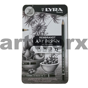 12pc Graphite Pencil Tin Lyra