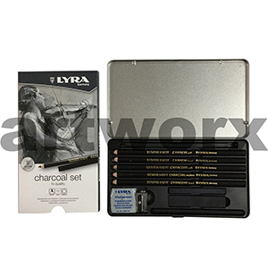 Lyra Rembrandt Charcoal Set Tin 11pc