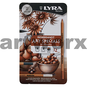12pc Rembrandt Sketching Art Specials Tin Lyra