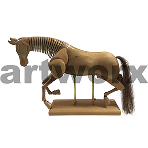 "16"" Mannequin Horse Light Wood"