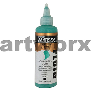 Aqua Green Light s2 135ml Matisse Fluid Acrylic Paint