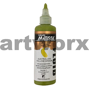 Australian Yellow Green s3 135ml Matisse Fluid Acrylic Paint
