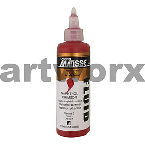 Naphthol Crimson s3 135ml Matisse Fluid Acrylic Paint