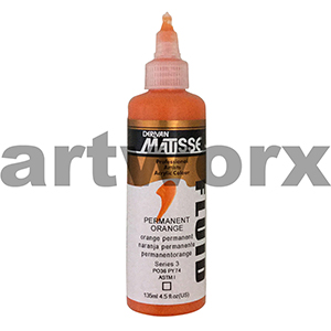 Permanent Orange s3 135ml Matisse Fluid Acrylic Paint