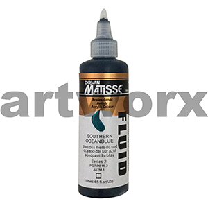 Southern Ocean Blue s2 135ml Matisse Fluid Acrylic Paint