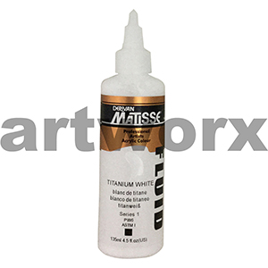 Titanium White s1 135ml Matisse Fluid Acrylic Paint