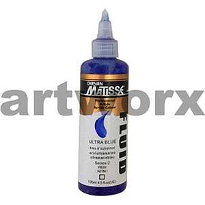 Ultramarine Blue s2 135ml Matisse Fluid Acrylic Paint
