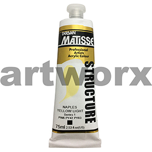 Naples Yellow Light s1 Derivan Matisse Structure 75ml