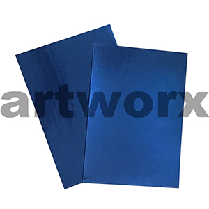 Blue 510x640mm Foil Card