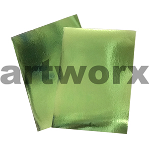 Green 510x640mm Foil Card