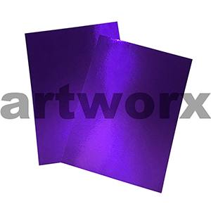 Purple A4 Foil Card