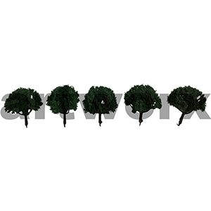 1:100-1:200 Scale Tree 5pcs