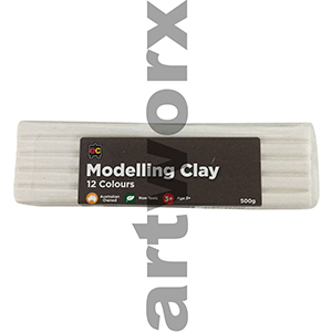 White Modelling Clay 500gm EC