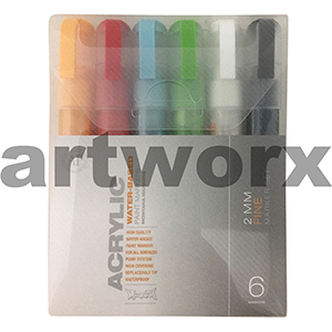 6pc 2mm Fine Pack Montana Markers