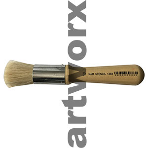 No.10 Stencil Brush Short Handle
