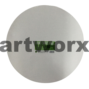 "10"" Diameter White Round Canvas Panel NAM"