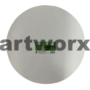 "12"" Diameter White Round Canvas Panel NAM"