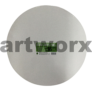 "16"" Diameter White Round Canvas Panel NAM"