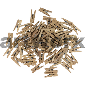 Natural Craft Wood Mini Peg Pack 20