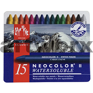 Neocolor Watersoluble Wax Crayons Tin 15