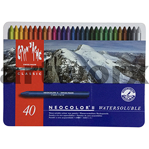 40 Neocolor Caran D'Ache Water Soluble Crayons