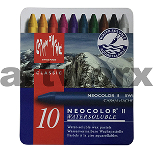 10 Neocolor Caran D'Ache Water Soluble Crayons