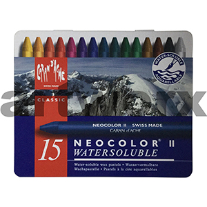 15 Neocolor Caran D'Ache Water Soluble Crayons