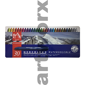 30 Neocolor Caran D'Ache Water Soluble Crayons