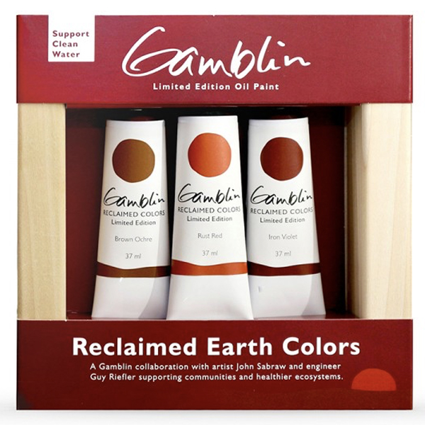 Oil Reclaimed Earth Colours Pollution to Paint Gamblin
