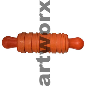 Rubber Texture Roller Orange Round