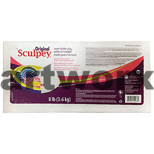 8lb (3.6kg) White Sculpey III Block