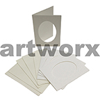 White Oval Cut C6 Cards & Envelope 10pcs Upikit 5 Cards & 5 Envelopes