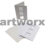 White 3 Squares Cut C6 Cards & Envelope 10pcs Upikit 5 Cards & 5 Envelopes