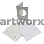 White Circle Cut C6 Cards & Envelope 10pcs Upikit 5 Cards & 5 Envelopes