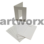 White Rectangle Cut C6 Cards & Envelope 10pcs Upikit 5 Cards & 5 Envelopes
