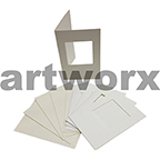 White Square Cut C6 Cards & Envelope 10pcs Upikit 5 Cards & 5 Envelopes
