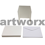 Cream Blank 3 Fold Cards C6 Cards & Envelope 10pcs Upikit 5 Cards & 5 Envelopes