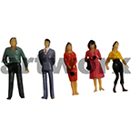 1:50 Model Coloured Figure 5pcs