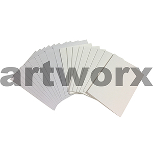 White 3 Fold Cards 10pcs Paperartzzi 5 Cards & 5 Envelopes
