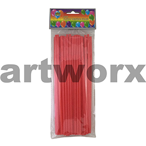 50pk Flexible Drinking Straws Red