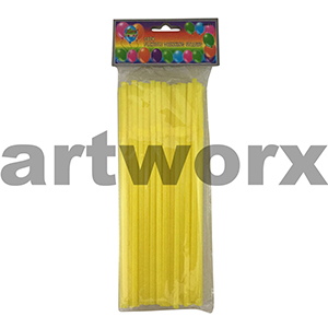 50pk Flexible Drinking Straws Yellow