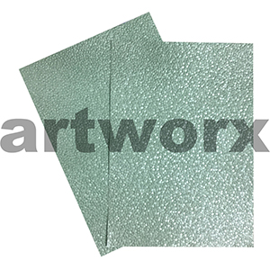Pastel Green Sheen Pebble Paper A4 Embossed
